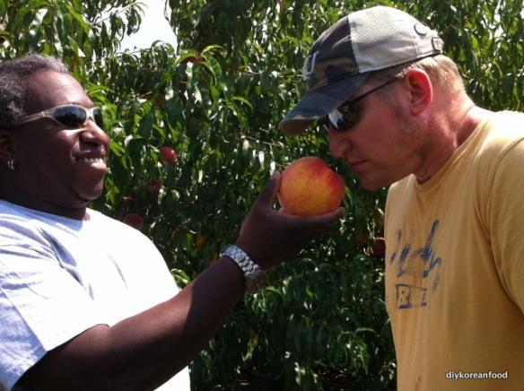 Smell a peach