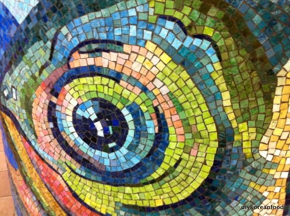 In the eye...