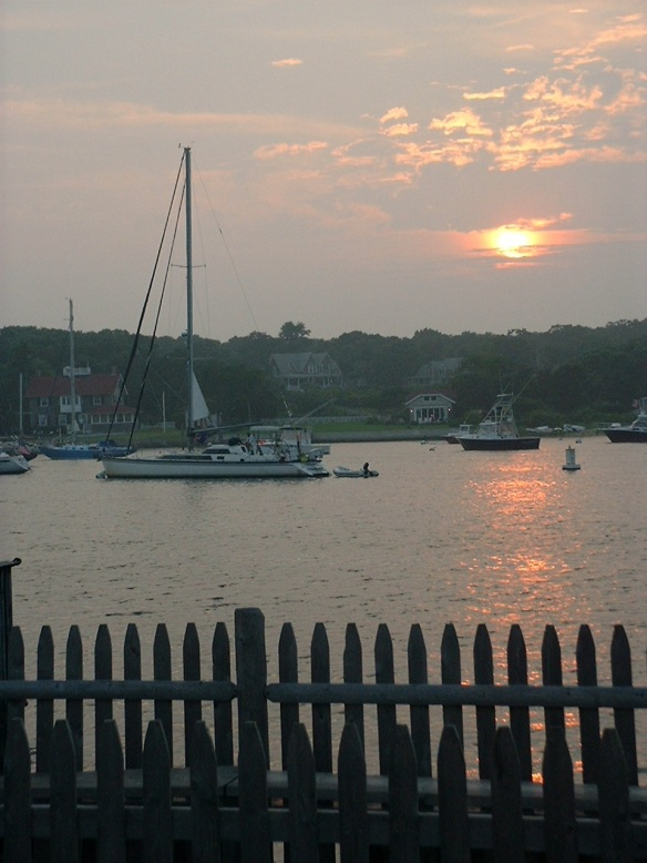 Sun goes down in Menemsha