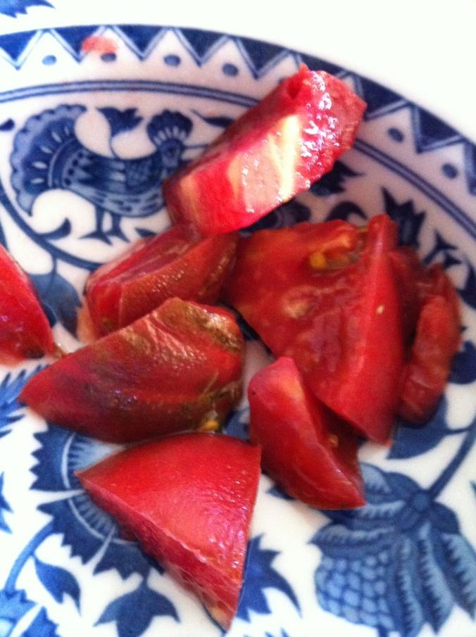 Tomato as breakfast