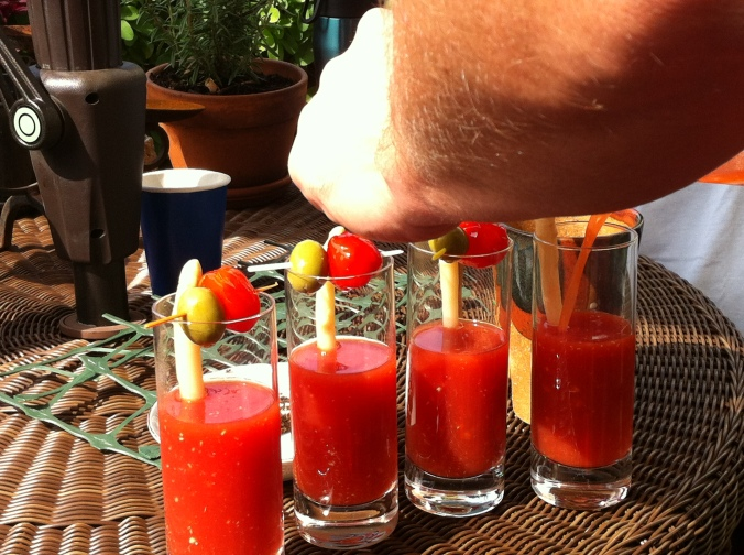 Bloody Marys all around