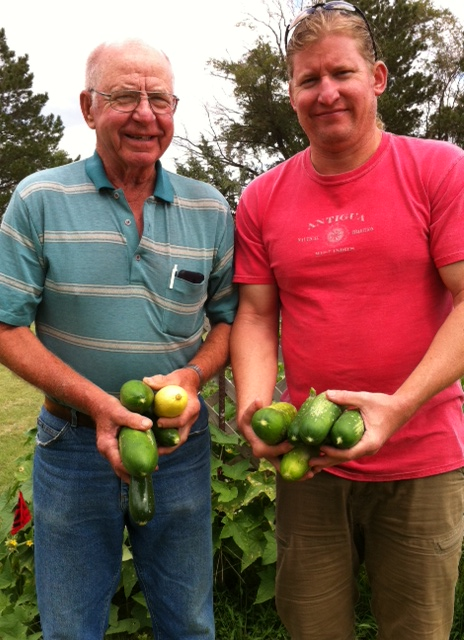 Men with zukes & cukes